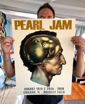 """Pearl Jam (Original Colorway)"" by Moon Patrol - 2 Color Screen on Art Print, Artist Edition of 300 - 18 x 24"""