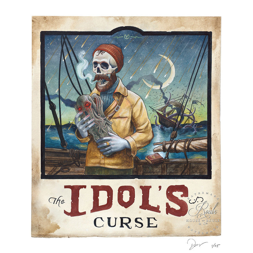 "Derek Nobbs ""The Idol's Curse"" - Limited Edition, Archival Print"
