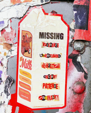 "Al Diaz and Dave Navarro ""Missing"" - 5 x Die Cut Stickers - 3 x 5"""