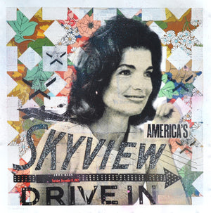 """Jackie's Skyview Drive In"" by Robert Mars - Hand-Embellished Unique Print"