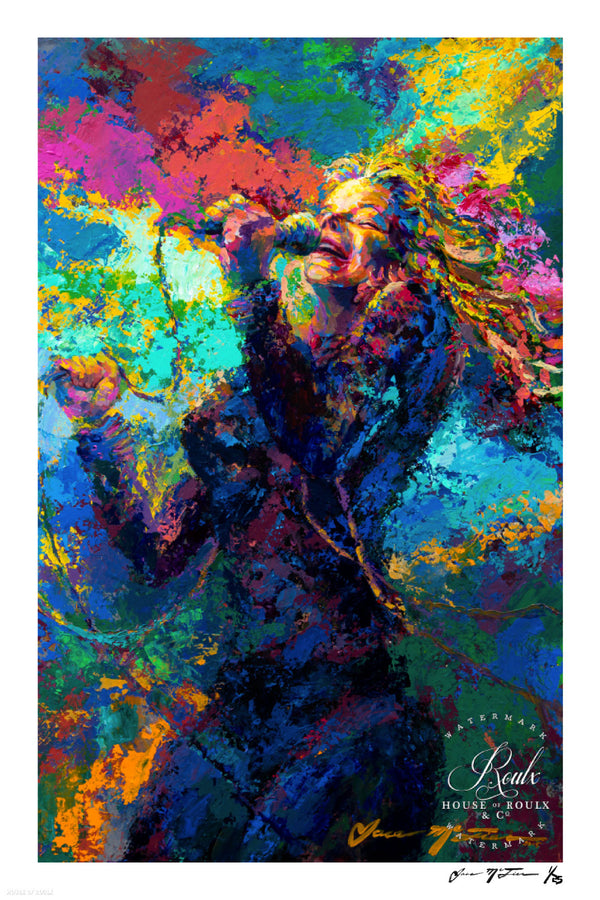 "Janis Joplin ""A Flower in the Sun"" (by Jace McTier) - Limited Edition, Archival Print"