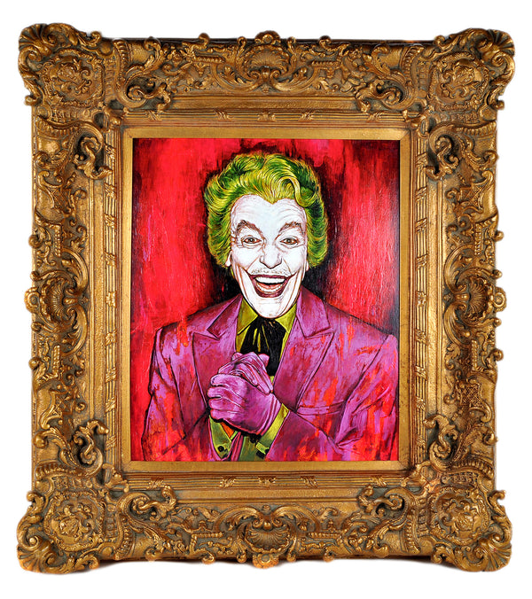 """The Joker - Cesar Romero"" by Andrew Houle - Original Oil Painting on Wood in Frame"