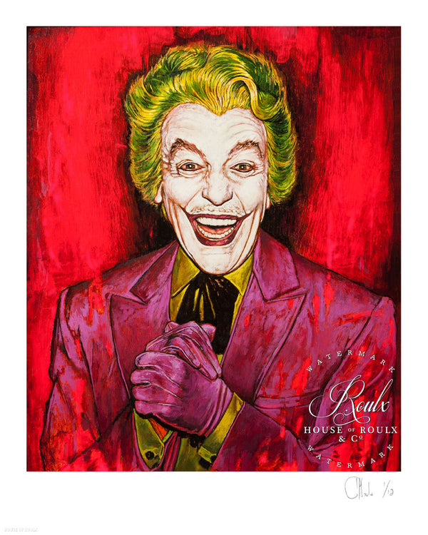 """The Joker - Cesar Romero"" by Andrew Houle - Limited Edition, Archival Print"