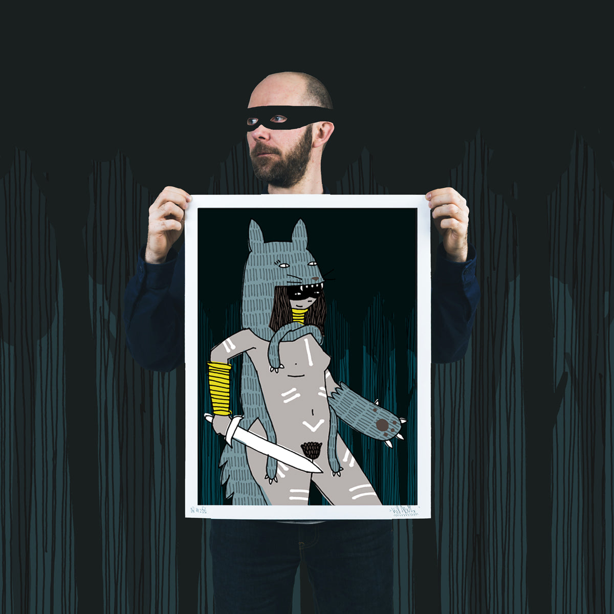 Night Watch By Kid Acne Archival Print Limited Edition Of 25 18 House Of Roulx