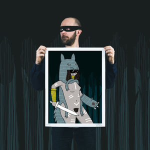 """Night Watch"" by Kid Acne - Archival Print, Limited Edition of 25 - 18 x 24"""