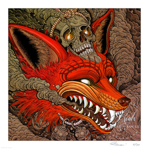 """Kitsune - Crimson"" by Florian Bertmer - Limited Edition, Archival Print"