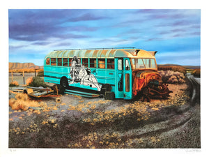 "Jessica Hess ""Last Stop"" - Hand-Embellished Variant, #2/5 - 18 x 24"""