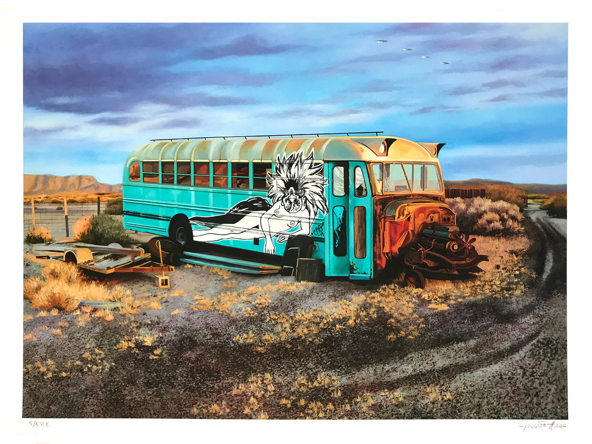 "Jessica Hess ""Last Stop"" - Hand-Embellished Variant, #5/5 - 18 x 24"""