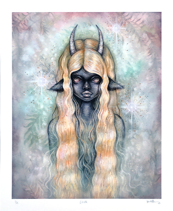 """Lilith"" by Brett Manning - Limited Edition, Archival Print - 14 x 17"""