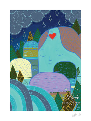 """Love in the Hills"" by LURK - Limited Edition, Archival Print"