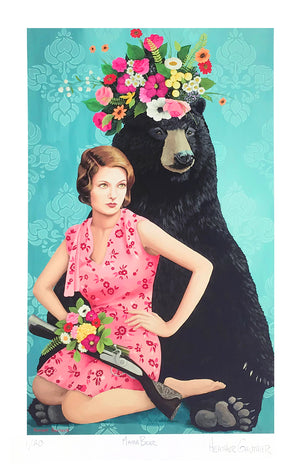 "Heather Gauthier ""Mama Bear"" - Archival Print, Limited Edition of 20 - 11 x 17"""
