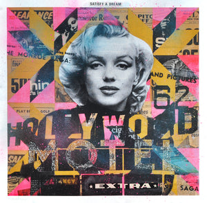 """Marilyn's Hollywood Motel"" by Robert Mars - Hand-Embellished Unique Print"