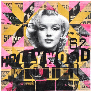 """Marilyn's Hollywood Motel"" by Robert Mars - Original Mixed Media and Resin on Canvas"