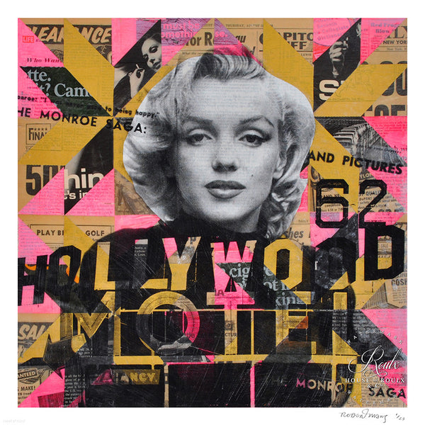 """Marilyn's Hollywood Motel"" by Robert Mars - Limited Edition, Archival Print"