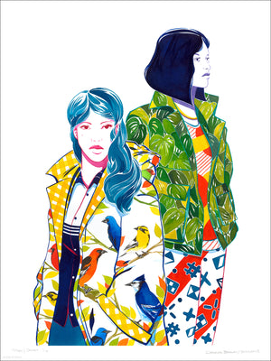 """Mary & Jane"" by Bagger43 - Archival Print, Limited Edition of 12 - 18 x 24"""