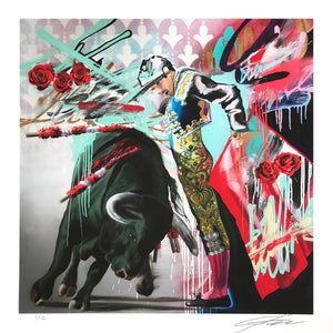 """The Matador"" by Jeremiah Kille - Archival Print, Limited Edition of 12 - 17 x 17"""