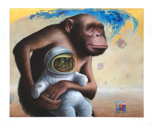"Chris Leib ""Mind Field"" - Hand-Embellished Variant, #1/5 - 14 x 17"""
