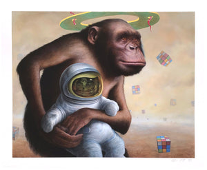 "Chris Leib ""Mind Field"" - Hand-Embellished Variant, #4/5 - 14 x 17"""
