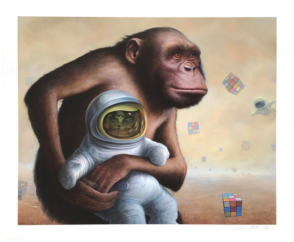 "Chris Leib ""Mind Field"" - Hand-Embellished Variant, #5/5 - 14 x 17"""