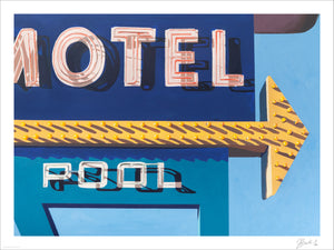 """Motel Pool"" by Jessica Brilli - Archival Print, Limited Edition of 12 - 18 x 24"""