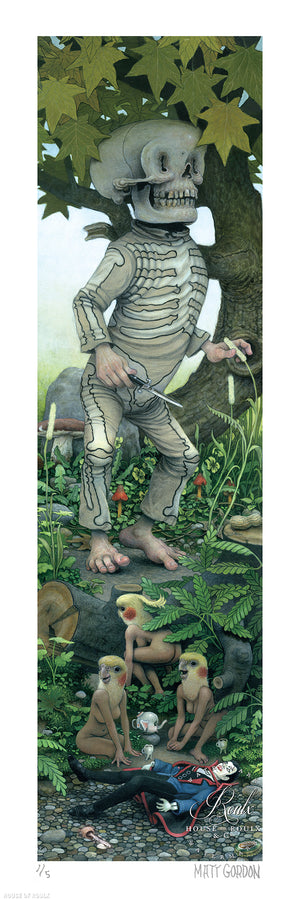 """Mr. Happy Man"" by Matt Gordon - Hand-Embellished Unique Print - 15 x 48"""