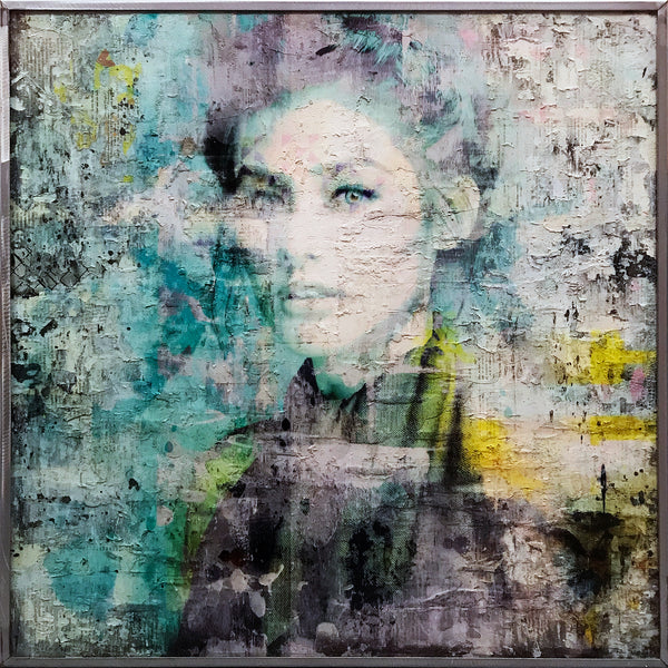 """Nova"" by Markus Sebastiano - Original Mixed Media Work - 31 x 31 x 2"""