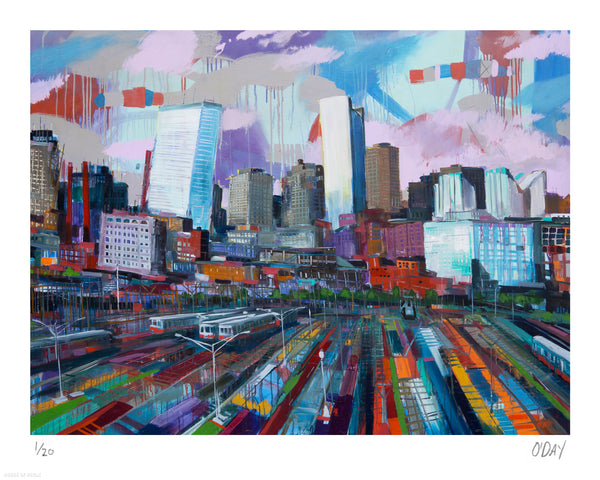 "Adam J. O'Day ""South Station"" - Archival Print, Limited Edition of 20 - 16 x 20"""