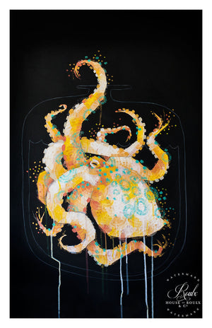 """Poison Jars - Blue Ringed Octopus"" by Michael Cain / Gnashing Teeth - Archival Print"