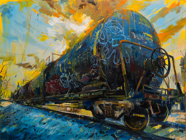 "Adam J. O'Day ""Oil Tanker 1"" - Original Oil Panting - 34 x 48"""