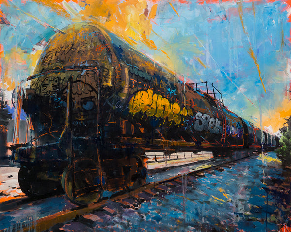 "Adam J. O'Day ""Oil Tanker 2"" - Original Oil Panting - 32 x 44"""