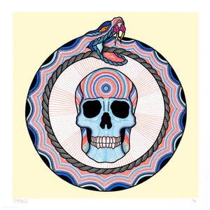 "Bonethrower ""Ouroboros"" - Archival Print, Limited Edition of 40 - 17 x 17"""