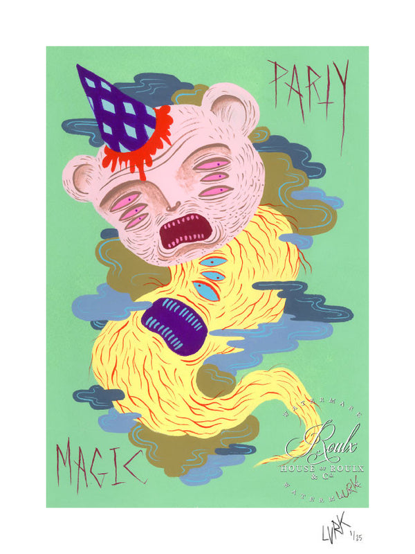 """Party Bear"" by LURK - Limited Edition, Archival Print"