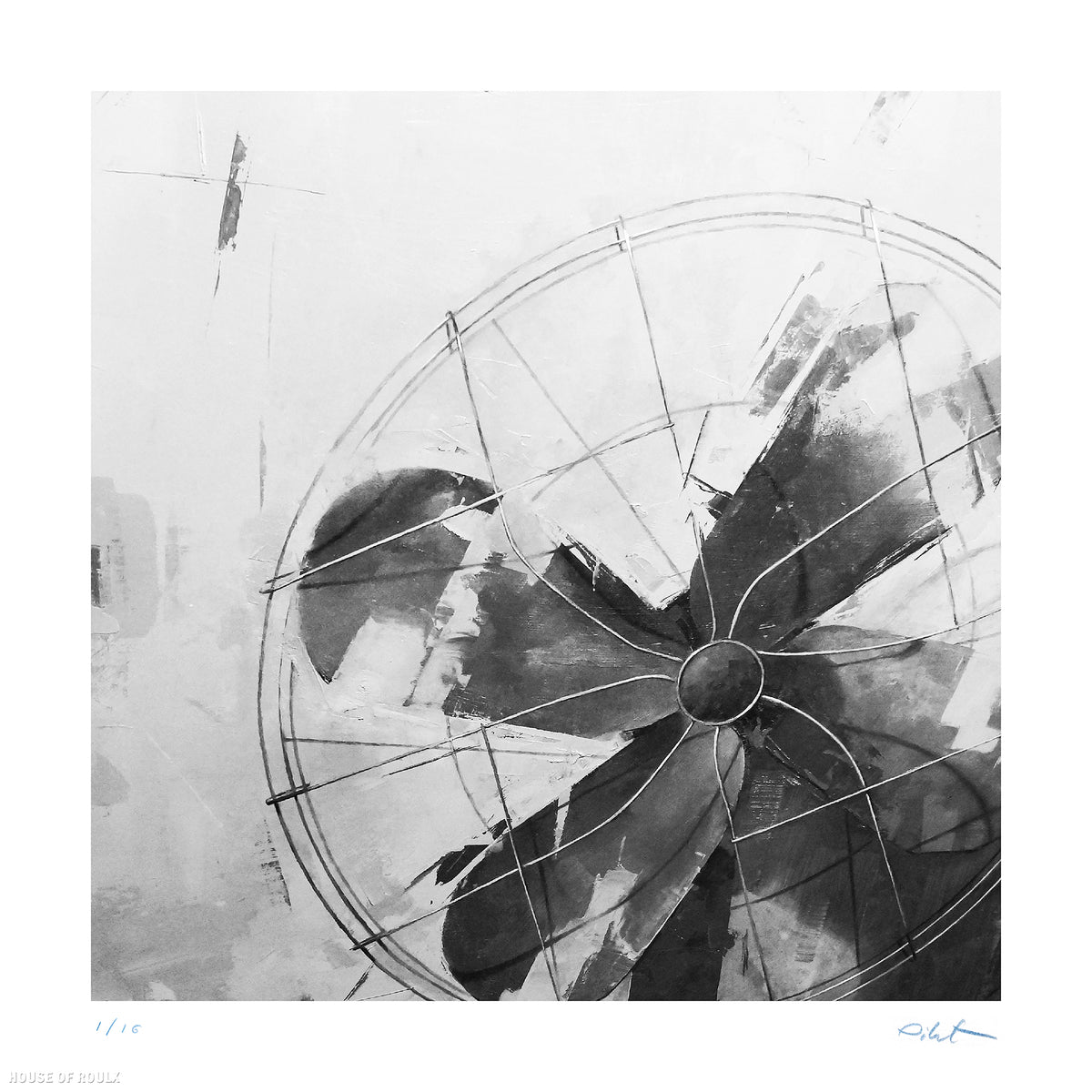 "Agnieszka Pilat ""Breezy (Mono)"" - Archival Print, Limited Edition of 16 - 12 x 12"""