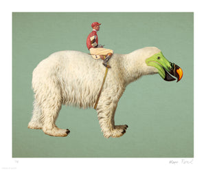 """Polar"" by Moon Patrol - Archival Print, Limited Edition of 15 - 14 x 17"""