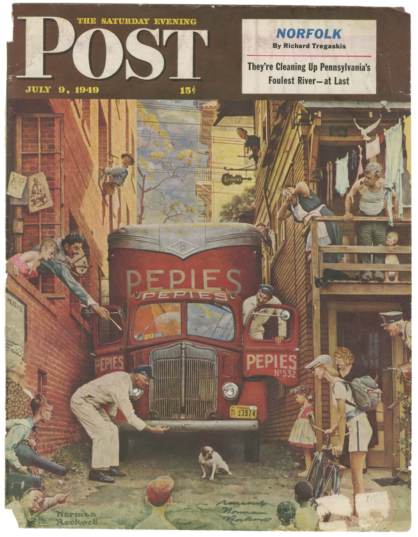 Norman Rockwell - Signed Saturday Evening Post Cover - 1949