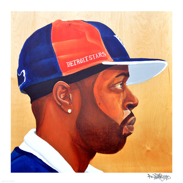 """Untitled/Fantastic [J-Dilla]"" by Problak - Limited Edition, Archival Print - 17 x 17"""