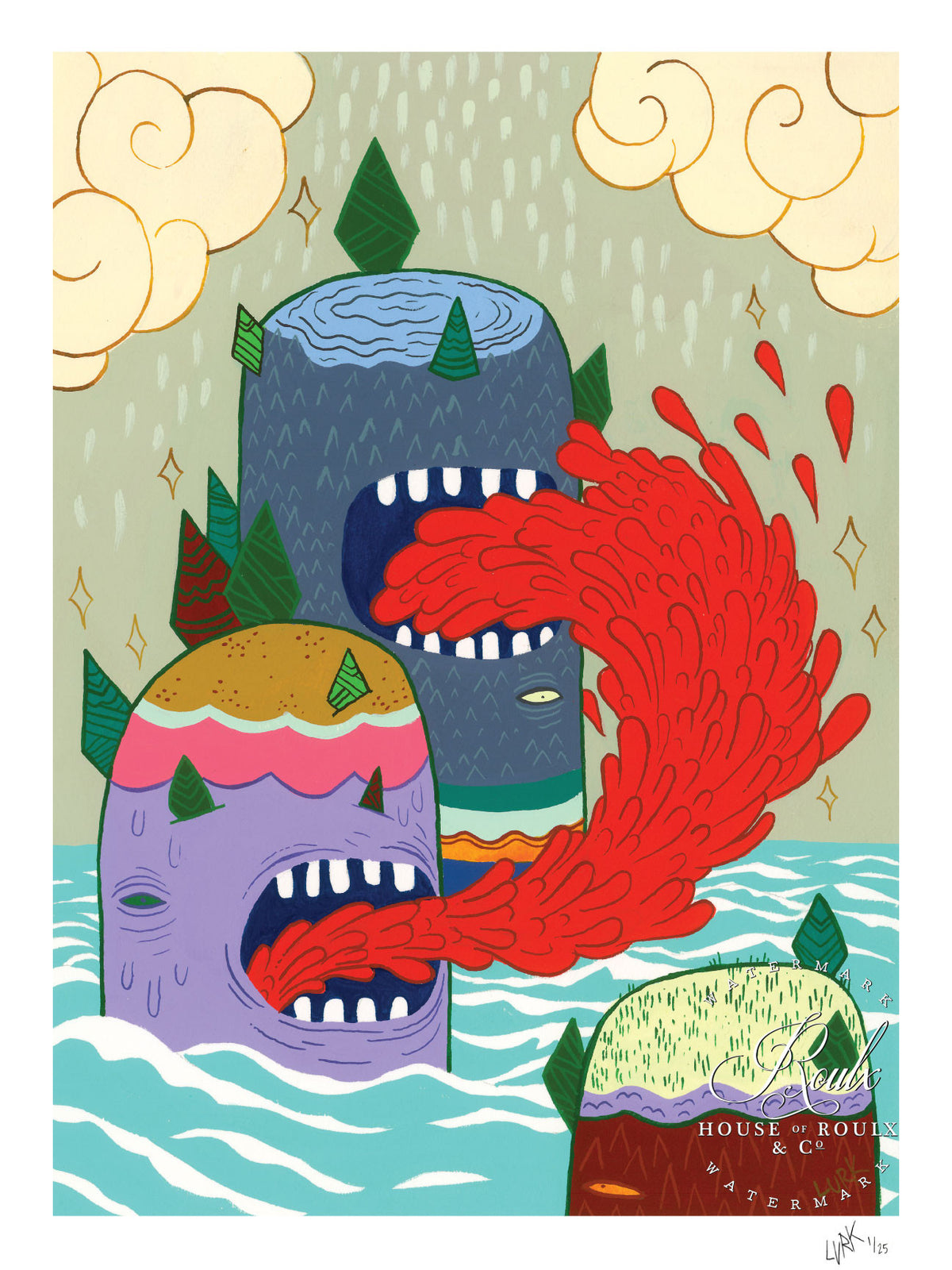 "LURK ""Puke Mountain"" - Limited Edition, Archival Print"