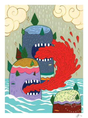 """Puke Mountain"" by LURK - Limited Edition, Archival Print"