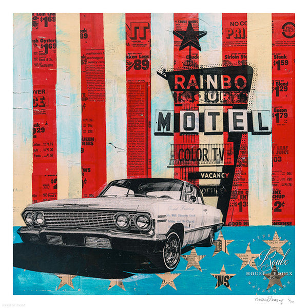 """Rainbo Motel"" by Robert Mars - Limited Edition, Archival Print"