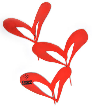 """Red Hearts - Triple"" by Free Humanity - Hand-Painted Cardboard Cut Out"