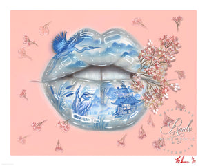 """Her Lips"" by Relm - Limited Edition, Archival Print - 16 x 20 Inches"