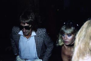 Rod Stewart & Britt Ekland (by Peter Warrack) - Limited Edition, Archival Print