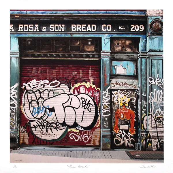 """Rosa Bread"" by David Tyndall - Hand-Embellished Unique Variant, Edition of 3 - 17 x 17"""