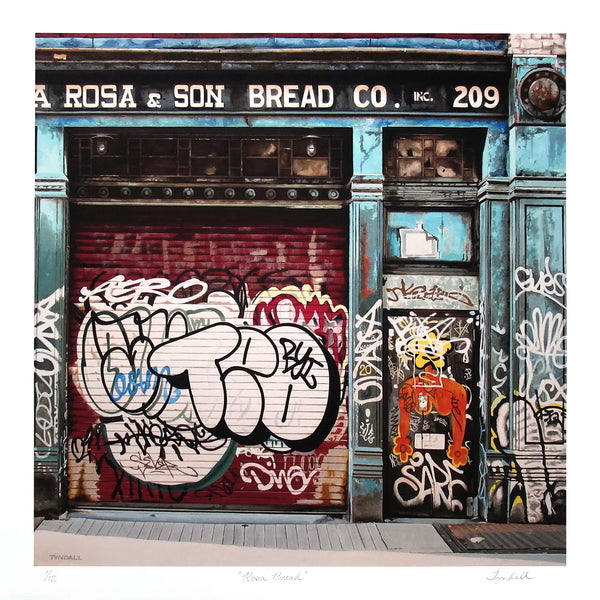 """Rosa Bread"" by David Tyndall - Archival Print, Limited Edition of 12 - 17 x 17"""