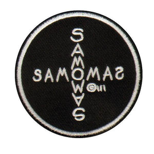 """SAMO©…Cross"" by Al Diaz - 3"" Round Embroidered Patch"
