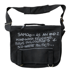 "Al Diaz ""SAMO©…"" - Original Hand-Painted Messenger Bag"