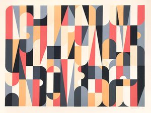 """Collective Individual (Colorway A)"" by Scott Albrecht - 6 Color Screen Print, Edition of 15 - 18 x 24"""
