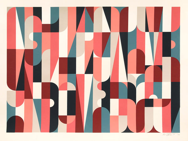 """Collective Individual (Colorway B)"" by Scott Albrecht - 6 Color Screen Print, Edition of 15 - 18 x 24"""