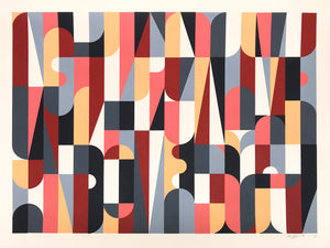 """Collective Individual (Colorway C)"" by Scott Albrecht - 6 Color Screen Print, Edition of 15 - 18 x 24"""
