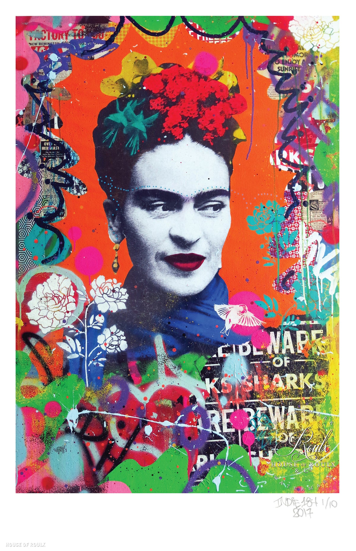 "Indie 184 ""Secret Garden (Frida Kahlo)"" - Limited Edition, Archival Print - 11 x 17"""